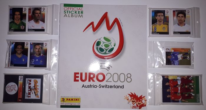 Panini - Euro 08 Austria / Switzerland - CompIete set of 535 stickers + 1 empty album