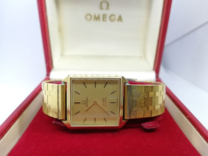 "Omega - De Ville plated gold Full set  ""NO RESERVE PRICE"" - 1365 - Heren - 1970-1979"