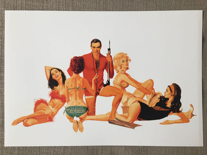 James Bond 007: Thunderball - Sean Connery - Lithographie Set of 3  - Artwork by Robert McGinnis