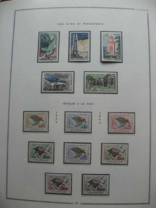 Algeria 1962/2010 - Quasi collection full of stamps including tax