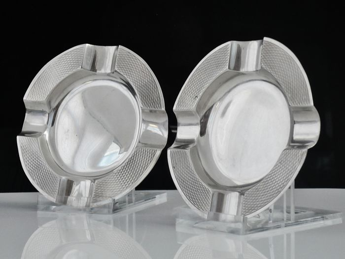 Pair of Silver Ash Trays, Mappin & Webb,Sheffield 1958