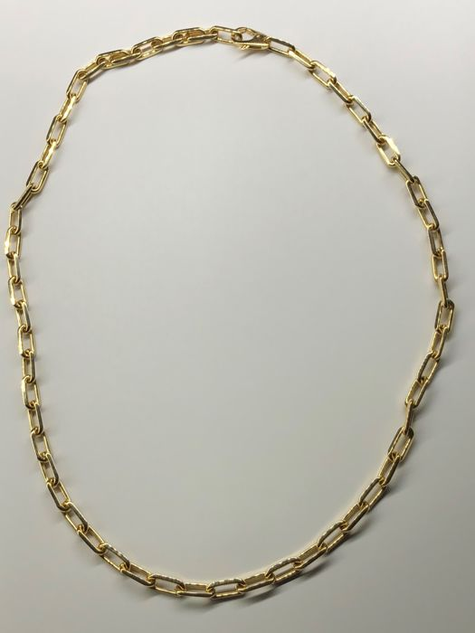 Santos-Dumont chain necklace by Cartier in 18 kt yellow gold