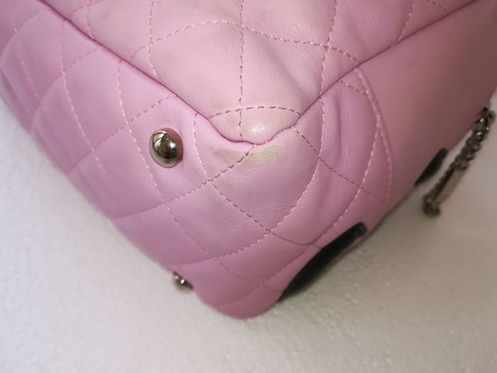 1217ef917684 Chanel - Cambon Pink and Black Quilted Leather Shoulder bag - Catawiki