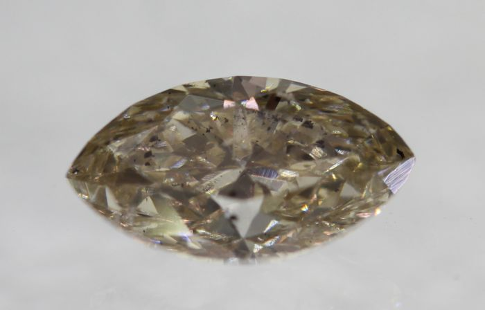 Marquise Diamond of 0.73 ct, Fancy brown VS2 [NO RESERVE PRICE] [EUROPEAN SELLER]