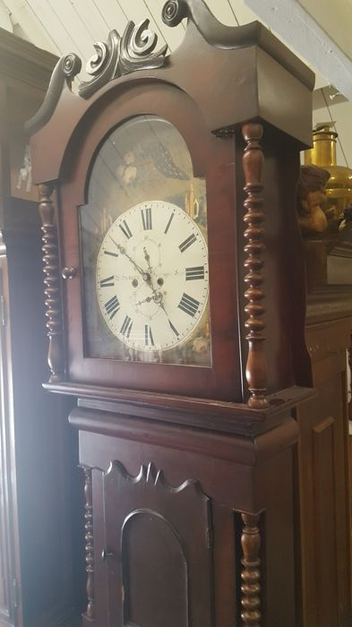 English mahogany longcase clock - period 1850