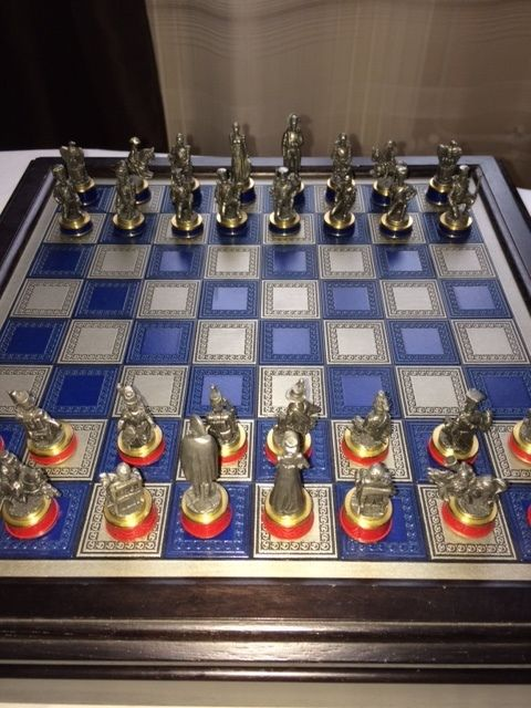 Chess game of the battle of Waterloo - Franklin Mint