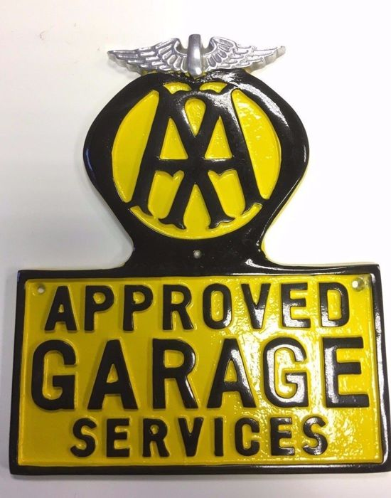 Segnaletica - AA Approved Garage Services Wall Sign - 1990-2000 (1 oggetti)