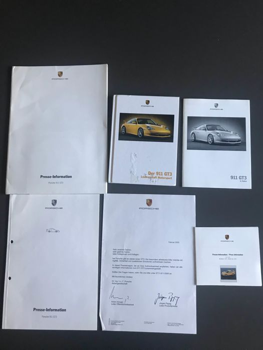 Brochures/ Catalogues - Porsche 996 GT3 MK2  brochure + persinformatie - 2003 (2 items)