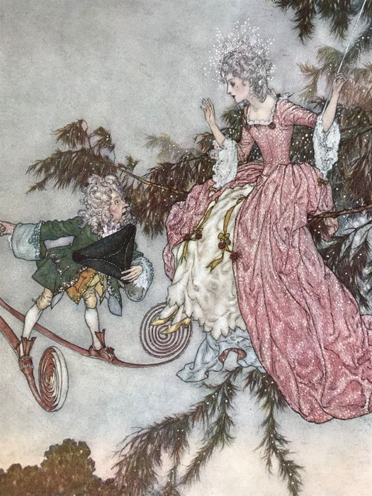 Sir Arthur Quiller Couch  / Edmund Dulac  - The Sleeping Beauty and Other Fairy Tales - 1910