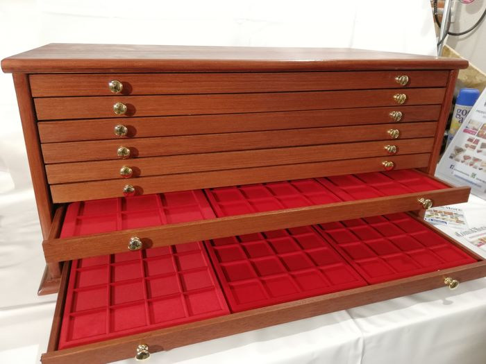 Grande Monetiere 10 drawers 30 vasso 720 seats - Made in Italy realizzato a mano