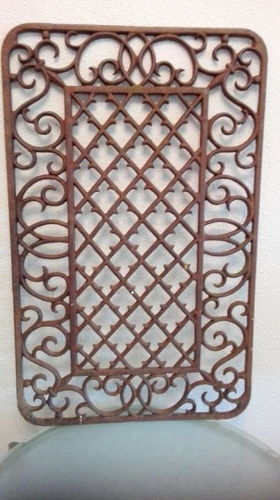 Cast iron window or door screen