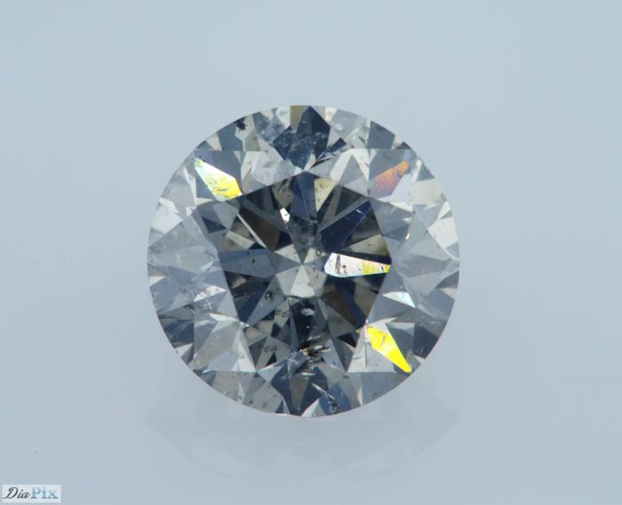 1 pcs Diamante - 1.31 ct - Redondo - fancy gris - GIA