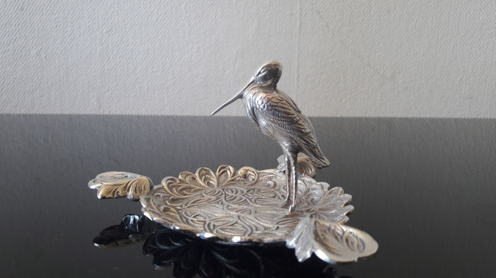 Silver Teeth dish with Stork, Spain