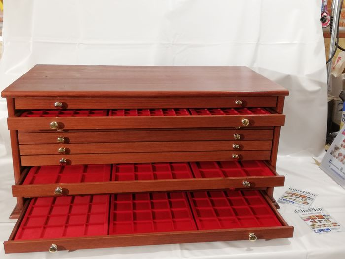 Grande Monetiere 10 drawers 30 trays 720 seats - Made in Italy realizzato a mano