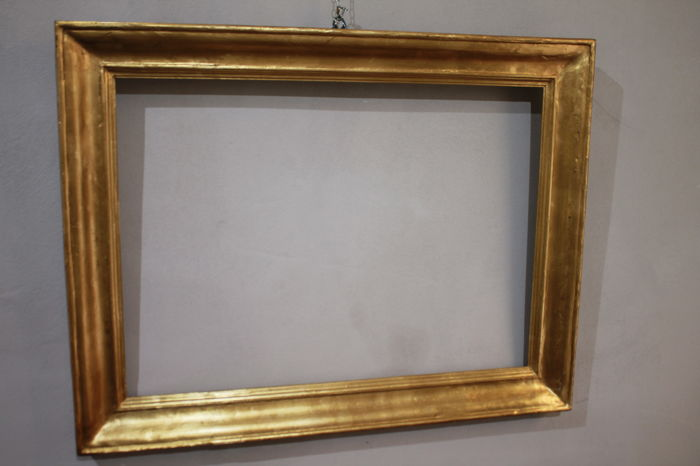 Wood and plaster frame with gold leaf gilding - 19th century