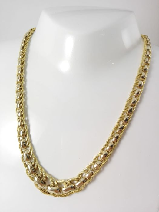Necklace - Gold, White gold