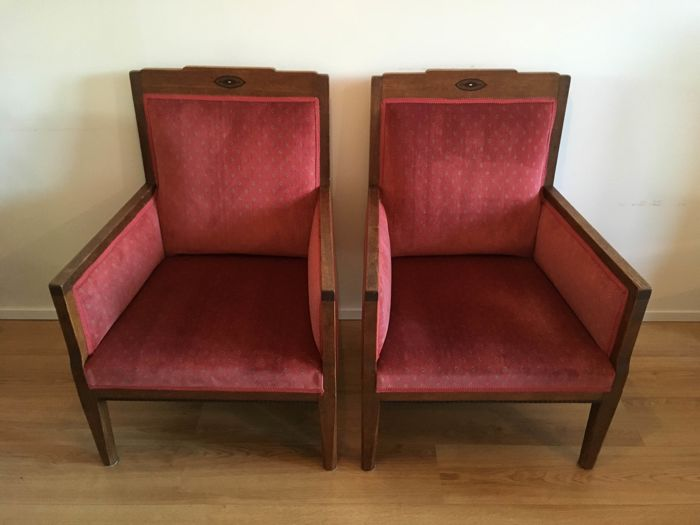 A Pair Of Armchairs   The Hague School