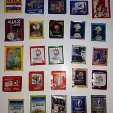 Panini - World Cup/EC/CL/Club football - Period 1982 to 2016 - 25 different packs