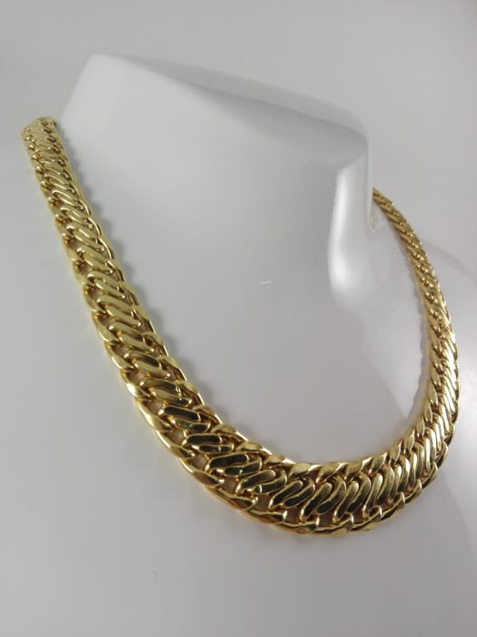 Women's 'Elios' necklace with gradient effect, in 18 kt yellow gold  Weight 36.3 g