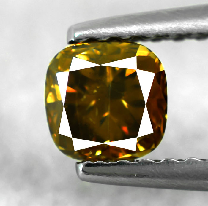 Natural Fancy Intense Orangy Brown Diamond - 0.52 ct, NO RESERVE PRICE