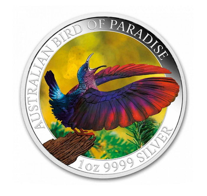 Australien - 1 Dollar 2018 Bird of Paradise - Coloured 1 oz - Silver