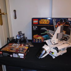 Star Wars - 75040  + 75134 + 7659  + 75050 General grievous Wheel Bike + Galactic Empire Battle Pack  + Imperial Landing Craft +  B-Wing