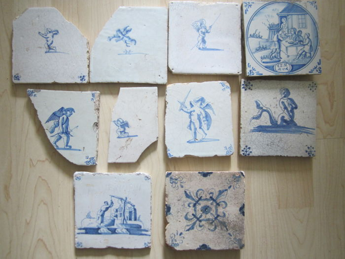 Tiles with amongst others angels