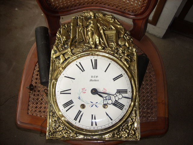 RCB Morbier square grandfather clock - 20th century France