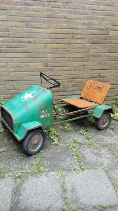 Militairy Jeep, Trapauto, Pedal Car