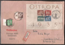 Empire allemand 1935 - Bloc OSTROPA, FDC - Michel Bl. 3