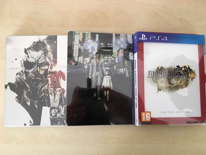 3 Rare Special Limited Edition Collectors PS4 Games - Includes Steelbooks