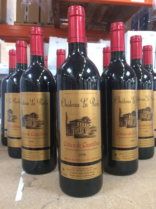 1998 Château La Rode, Côtes de Castillon AOC (Bordeaux right bank) - 12 bottles