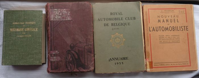 Books - Royal automobile club de Belgique - 1925-1964 (4 items)