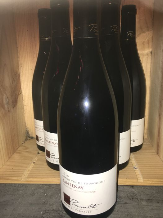 2016 Santenay Nicolas Perrault - lot of 6 bottles