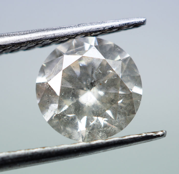 1.03  ct - Natural White Diamond - K Color - I1 *NO RESERVE*