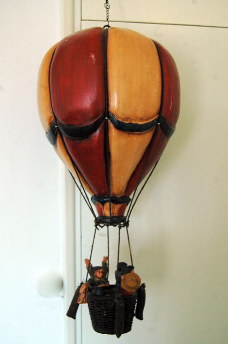 Large vintage wooden hot air balloon