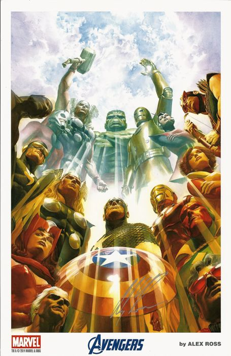 The Avengers -  by Alex Ross - Signed Lithograph - Prima Edizione - (2014)