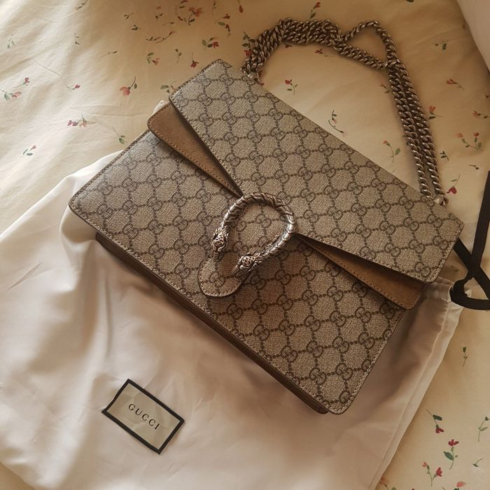 15e4fac9c1f7 Gucci - GG Supreme Monogram Medium Dionysus Taupe Shoulder bag ...