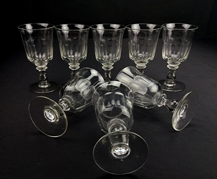 Baccarat - Tulip - Set of 8 crystal wine chalices