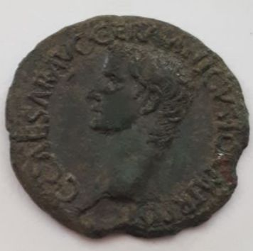 Empire romain - As - Caligula (37-41), 37/8 - Vesta