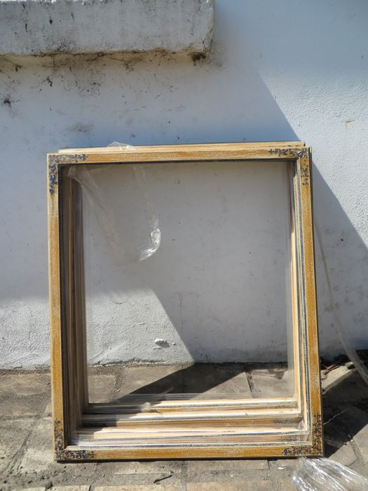 Seven identical Italian frames - wood-1st half of 20th century (7)