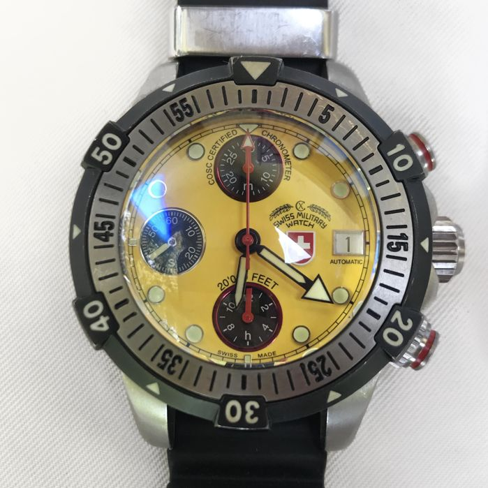 SWISS MILITARY WATCH - 20,000 FEET - 35419 - Men - 2000-2010