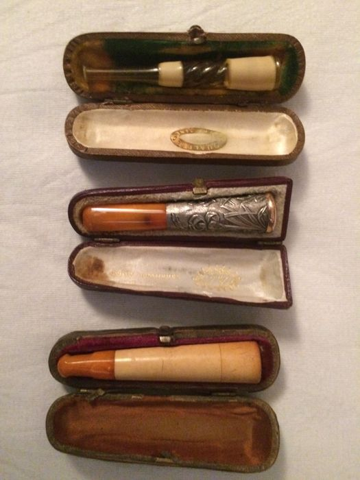 Antique mouthpieces for cigars