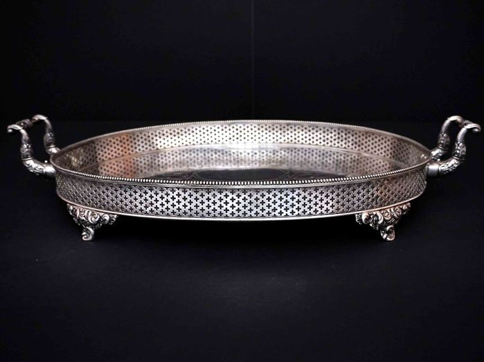 Important Silver Two Handled Tray, Jean Francois Veyrat, France, ca. 1840