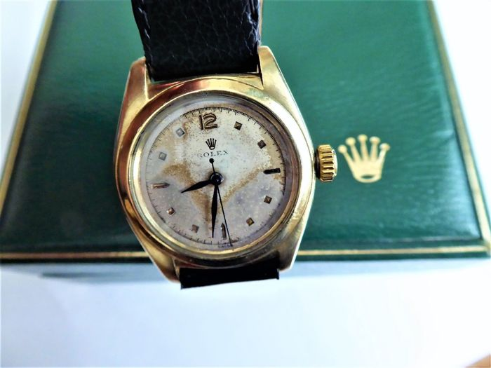 Rolex - speed king super rare  quality bubble back rolex. - Heren - 1950-1959
