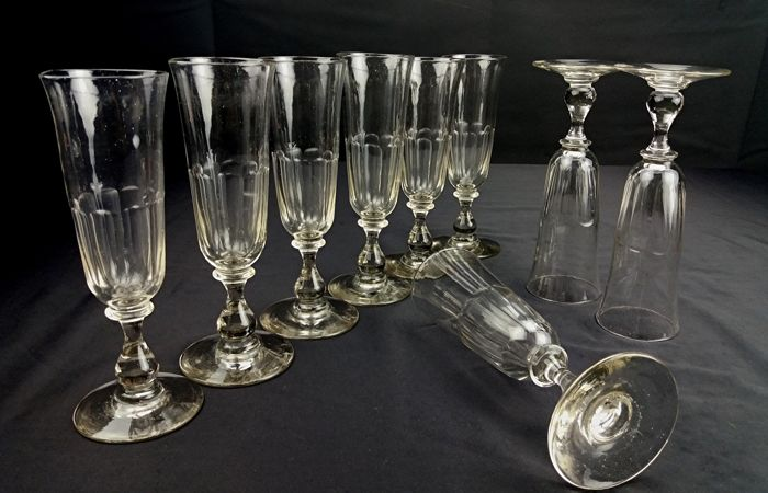 Baccarat - Tulip - Set of 11 crystal flute chalices