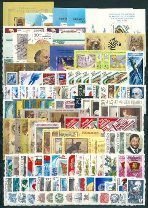 Soviet Union 1988/1989 - 	сomplete year sets - Michel 5786/6042