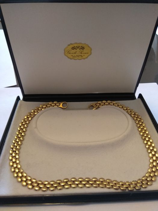 Necklace in 18 kt yellow gold - 45 cm