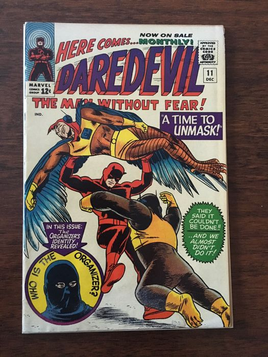 Daredevil #11 - Marvel Comics - A Time To Unmask!  - First Edition (1965)