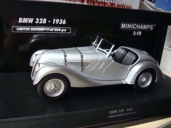 MiniChamps - 1:18 - BMW 328  1936 - Silver - Limited Edition 1 of 504 pic
